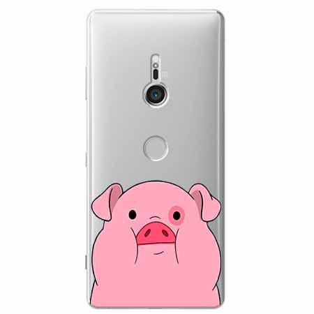 Etui na Sony Xperia XZ3 - Słodka różowa świnka.