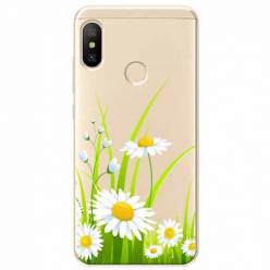 Etui na Xiaomi Mi A2 Lite - Polne stokrotki.