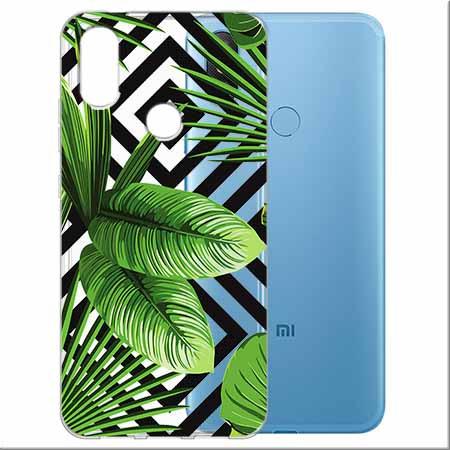 Etui na Xiaomi Mi A2 Lite -  Egzotyczne liście bananowca.