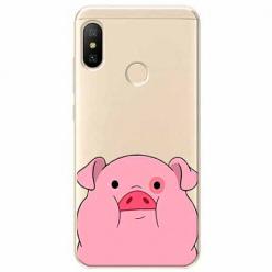 Etui na Xiaomi Mi A2 Lite - Słodka różowa świnka.