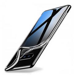 Etui na Samsung Galaxy S10 - silikonowe platynowane SLIM - Czarny.