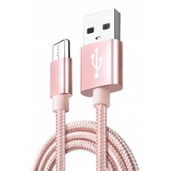 Kabel Micro-USB do szybkiego ładowania QUICK CHARGE 3.0 - Różowy.