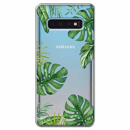 Etui na Samsung Galaxy S10 - Egzotyczna roślina Monstera.