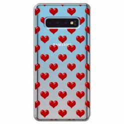 Etui na Samsung Galaxy S10 - Czerwone serduszka.