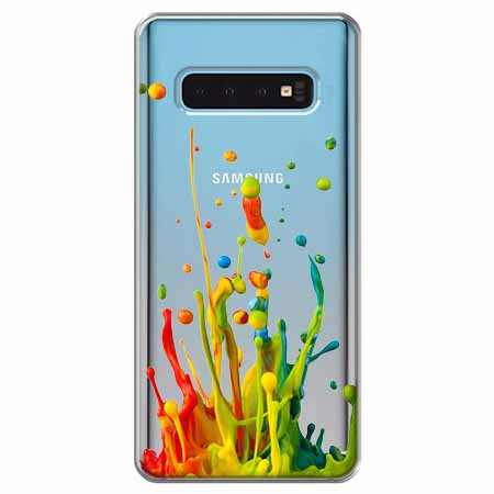Etui na Samsung Galaxy S10 - Kolorowy splash.
