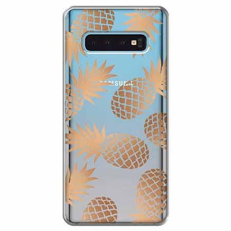Etui na Samsung Galaxy S10 - Złote ananasy.