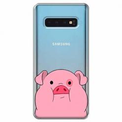 Etui na Samsung Galaxy S10 - Słodka różowa świnka.