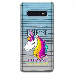 Etui na Samsung Galaxy S10 Plus - Time to be unicorn - Jednorożec.