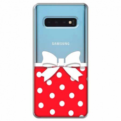 Etui na Samsung Galaxy S10 Plus - Gustowna kokardka.