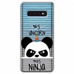 Etui na Samsung Galaxy S10 Plus - Ninja Unicorn - Jednorożec.