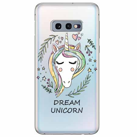Etui na Samsung Galaxy S10e - Dream unicorn - Jednorożec.