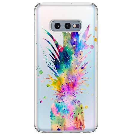 Etui na Samsung Galaxy S10e - Watercolor ananasowa eksplozja.