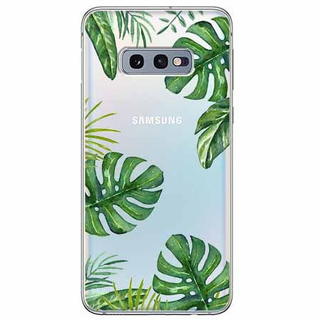 Etui na Samsung Galaxy S10e - Egzotyczna roślina Monstera.