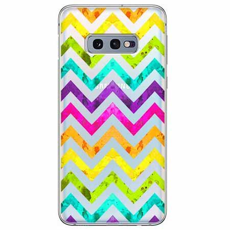Etui na Samsung Galaxy S10e - Tęczowy przeplataniec.