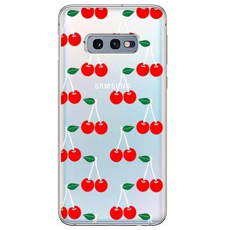 Etui na Samsung Galaxy S10e - Wiśniowa plejada.