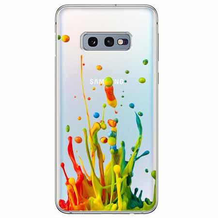 Etui na Samsung Galaxy S10e - Kolorowy splash.