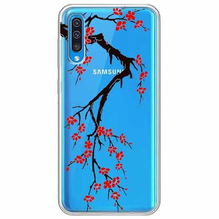 Etui na Samsung Galaxy A50 - Krzew kwitnącej wiśni.