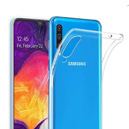 Etui na Samsung Galaxy A50 - Tęczowy przeplataniec.