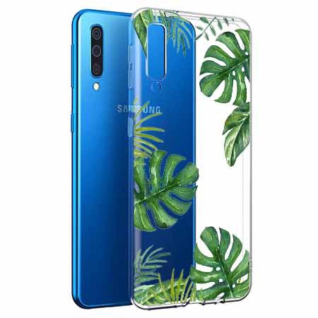 Etui na Samsung Galaxy A50 - Zielone liście palmowca