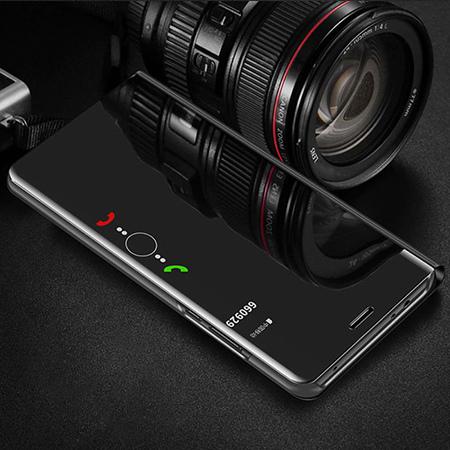Etui na Samsung Galaxy A50 - Flip Clear View z klapką - Czarny.