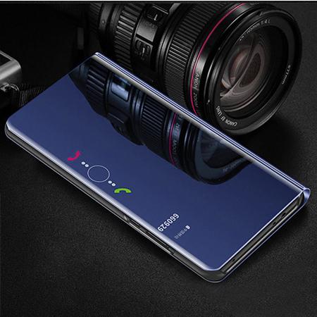 Etui na Samsung Galaxy A50 - Flip Clear View z klapką - Granatowy.