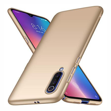 Etui na telefon Xiaomi Mi 9 - Slim MattE - Złoty.