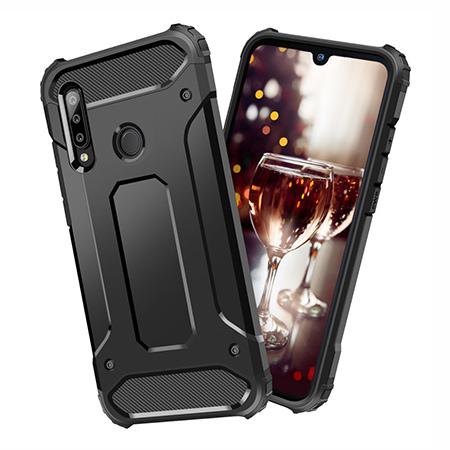 Etui na Huawei P30 Lite - pancerne - Czarny.