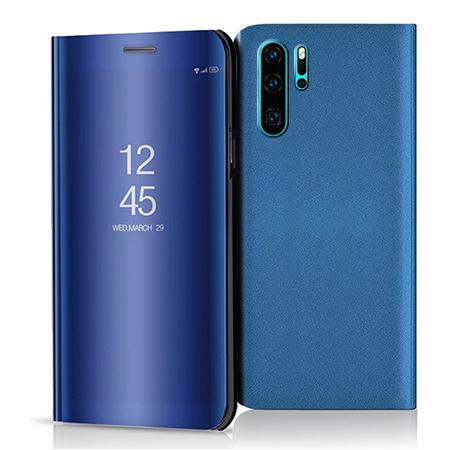 Etui na Huawei P30 Pro - Flip Clear View z klapką - Niebieski.