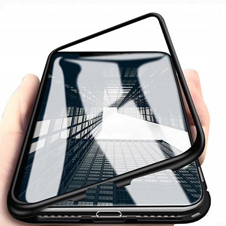 Etui Magnetyczne metalowe Magneto Huawei P30 Pro - Czarny