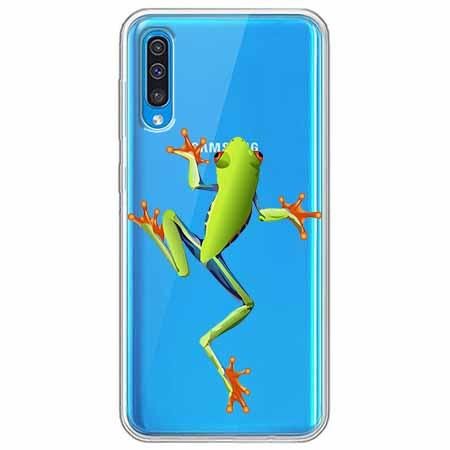 Etui na Samsung Galaxy A70 - Zielona żabka.