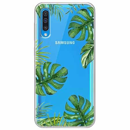 Etui na Samsung Galaxy A70 - Zielone liście palmowca