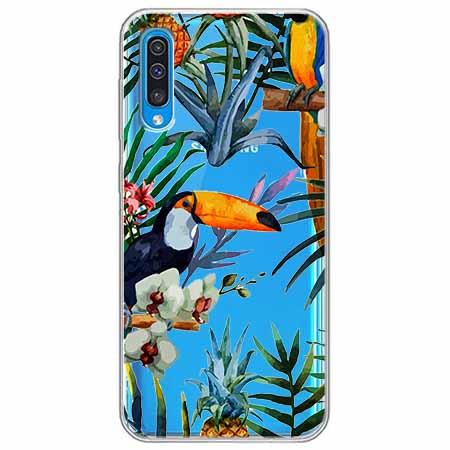 Etui na Samsung Galaxy A70 - Egzotyczne tukany.