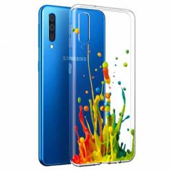 Etui na Samsung Galaxy A70 - Kolorowy splash.