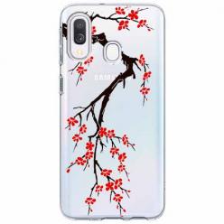 Etui na Samsung Galaxy A40 - Krzew kwitnącej wiśni.