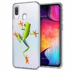 Etui na Samsung Galaxy A40 - Zielona żabka.