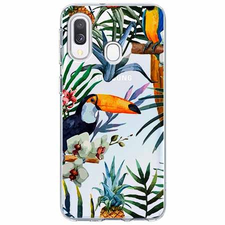 Etui na Samsung Galaxy A40 - Egzotyczne tukany.