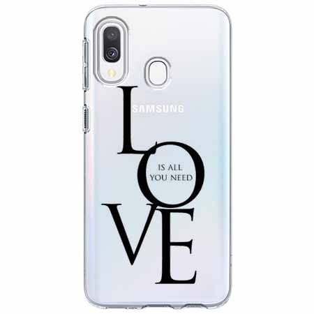 Etui na Samsung Galaxy A40 - All you need is LOVE.