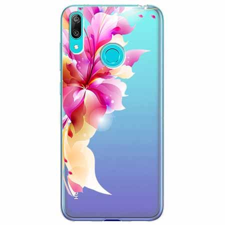 Etui na Huawei Y6 2019 - Bajeczny kwiat.