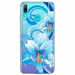 Etui na Huawei Y6 2019 - Niebieski kwiat północy.