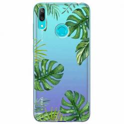 Etui na Huawei Y6 2019 - Zielone liście palmowca