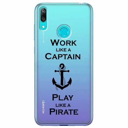 Etui na Huawei Y6 2019 - Work like a Captain…