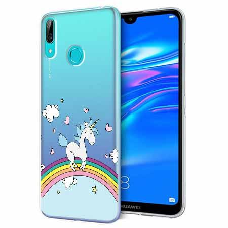 Etui na Huawei Y6 2019 - Jednorożec na tęczy.