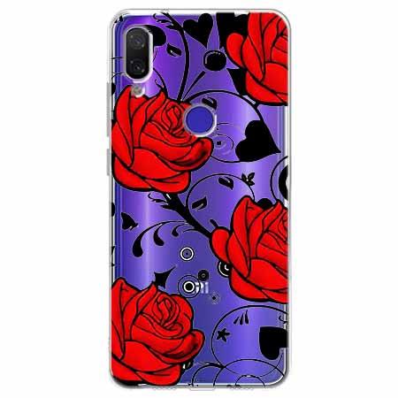 Etui na Xiaomi Redmi Note 7 - Czerwone róże.