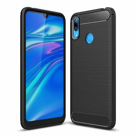 Etui na Huawei Y6 2019  - bumper Neo CARBON - Czarny.