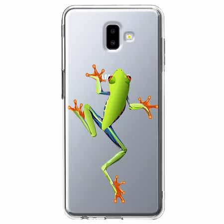 Etui na Galaxy J6 Plus - Zielona żabka.