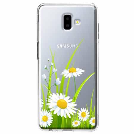 Etui na Galaxy J6 Plus - Polne stokrotki.