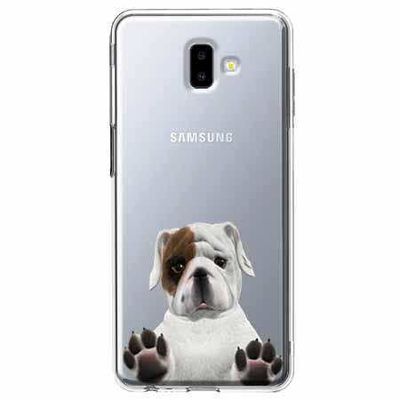 Etui na Galaxy J6 Plus - Słodki szczeniaczek.
