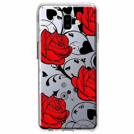 Etui na Galaxy J6 Plus - Czerwone róże.