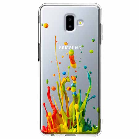Etui na Galaxy J6 Plus - Kolorowy splash.