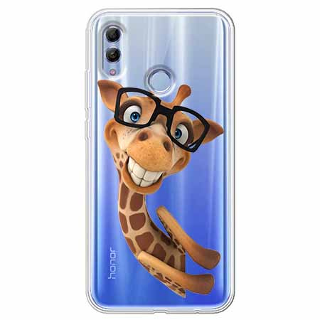 Etui na Huawei Honor 10 Lite - Żyrafa w okularach.